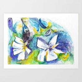 Wasserblumen / Waterflowers Art Print
