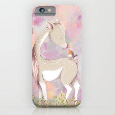 Baby Deer With Bird Watercolor Painting Slim Case iPhone 6s