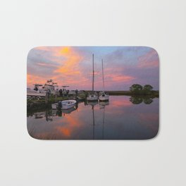 Boats in Poquoson at Sunset Bath Mat