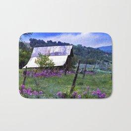 Purple Dames Rocket Ranch Saturated by CheyAnne Sexton Bath Mat