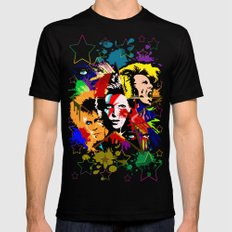 Bowie PopArt Metamorphosis Black LARGE Mens Fitted Tee