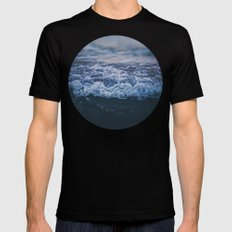 Waves Black MEDIUM Mens Fitted Tee