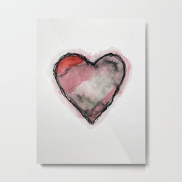 Stained Heart Metal Print