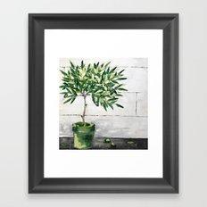 Shiplap & Olives Framed Art Print
