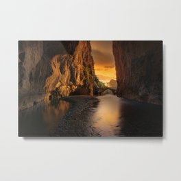 Sunrise in the Valley Photographic Landscape Metal Print