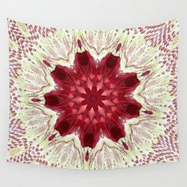 Cayenne Rose Vintage Doily Kaleidoscope Wall Tapestry
