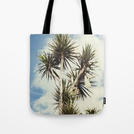 Tilt and Shift Penzance Palm tree Tote Bag