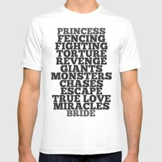 Princess Bride LARGE White Mens Fitted Tee