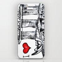singapore iPhone & iPod Skins featuring I love Singapore by sladja