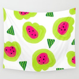Melon Dream Watermelon brightness pips and all Wall Tapestry