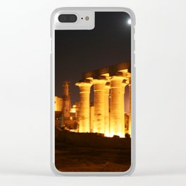 The night and the moon at Temple of Luxor, no. 29 Clear iPhone Case