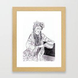 Ethnic Girl Framed Art Print