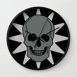 metal skull star Wall Clock