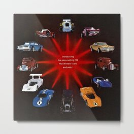 1969 Hot Wheels Redline Catelog Poster No 3 Metal Print