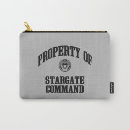 Property of Stargate Command Athletic Wear Black ink Carry-All Pouch