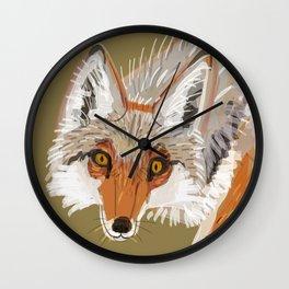 Totem Coyote Wall Clock