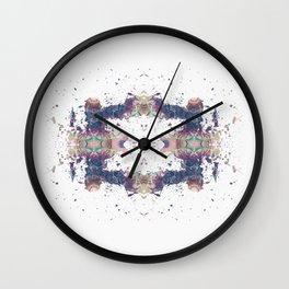 Inkdala VIII (Rorschach) Wall Clock
