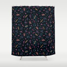 80's Arcade Carpet Shower Curtain