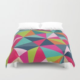 Geometric Triangle Pattern  - Spring Color Palette - Duvet Cover