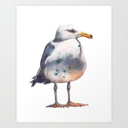 Seagull Lookout Art Print