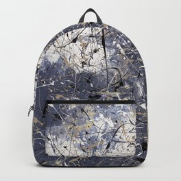 Orion - Jackson Pollock style abstract drip painting by Rasko Backpack