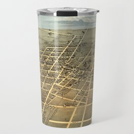 Vintage Pictorial Map of Champaign IL (1869) Travel Mug