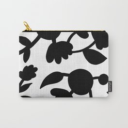 Bold floral pattern White Carry-All Pouch