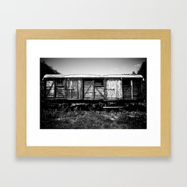 Here my train a comin' Framed Art Print
