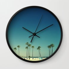 Summer Beach Blue Wall Clock