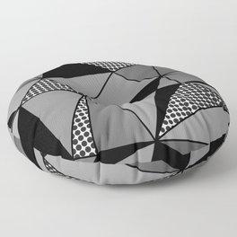 Monochrome Polygons Floor Pillow