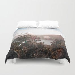 View of the Lago Lacar Duvet Cover
