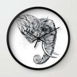 Elephant art Wall Clock