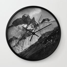 Patagonian Mountains Wall Clock