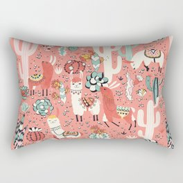 Lama in cactus jungles Rectangular Pillow
