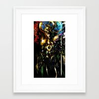 loki Framed Art Prints featuring Loki by Vincent Vernacatola