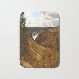 Thundering Waters Of The Yellowstone River Bath Mat
