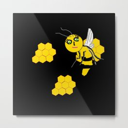 Sometimes a You Have to Wait for that Honey Metal Print