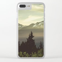 Morning in the Mountains Clear iPhone Case