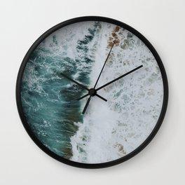waves xvii / kaua'i, hawaii Wall Clock