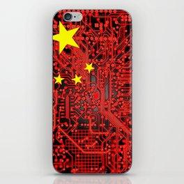 circuit board Flag (China) iPhone Skin