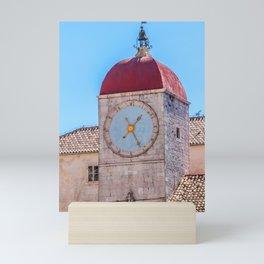 Clock tower in Trogir - Croatia Mini Art Print