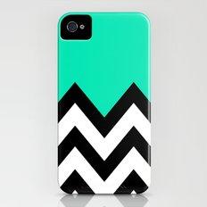 TEAL COLORBLOCK CHEVRON Slim Case iPhone (4, 4s)