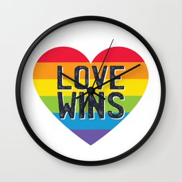 Pride LGBTQI - Love Wins Wall Clock