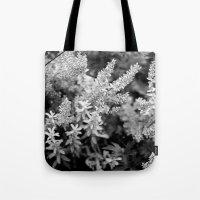 Leaves black n white Tote Bag