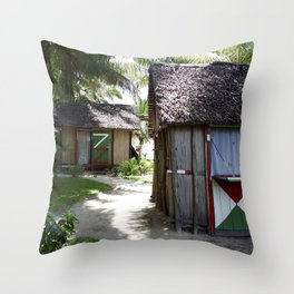 Malagasy Village Throw Pillow