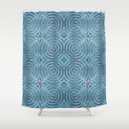 Phasing Beacon Pattern Shower Curtain