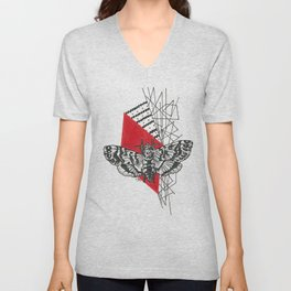 Hawkmoth Abstract Unisex V-Neck