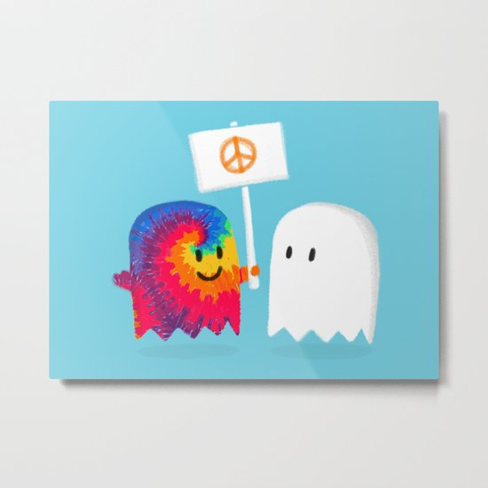 Hippie ghost Metal Print
