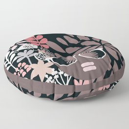 Afro Diva : Sophisticated Lady Pale Pink Peach Taupe Floor Pillow