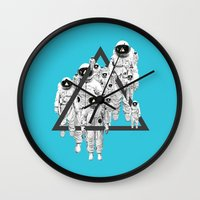 lee pace Wall Clocks featuring Pace Man by Pame Pinto Rojas